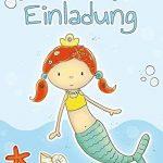 '10cartes d'invitation pour anniversaire d'enfant Sirène Malin Fête, Anniversaire de piscine de la marque emufarm® image 1 produit