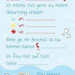 '10cartes d'invitation pour anniversaire d'enfant Sirène Malin Fête, Anniversaire de piscine de la marque emufarm® image 3 produit