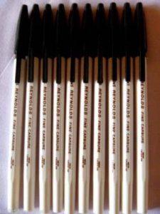10Feutres Reynolds 045Stylo à bille Carbure Fine pointe 0,45mm Noir Marque Ajouter par Indian Cricket Sachin (Tendulkar de la marque Reynolds image 0 produit