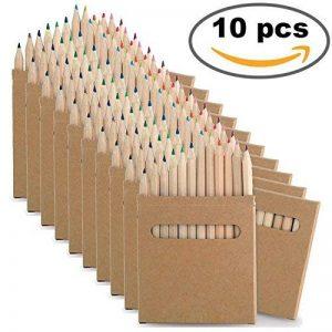 10Sets de Crayons à Colorier. Chacun avec 12crayons de différentes couleurs. Idéal pour cadeaux de fête d'anniversaire de la marque B2ACTION image 0 produit