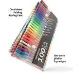 100 stylos à encre gel de couleur Chroma avec étui - Gel Pens extra large - Couleurs UNIQUES (aucune en double) – Encre de qualité supérieure glissant facilement - Parfaits pour le coloriage de la marque Chroma image 1 produit