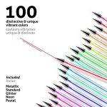 100 stylos à encre gel de couleur Chroma avec étui - Gel Pens extra large - Couleurs UNIQUES (aucune en double) – Encre de qualité supérieure glissant facilement - Parfaits pour le coloriage de la marque Chroma image 2 produit