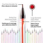 100 stylos à encre gel de couleur Chroma avec étui - Gel Pens extra large - Couleurs UNIQUES (aucune en double) – Encre de qualité supérieure glissant facilement - Parfaits pour le coloriage de la marque Chroma image 3 produit