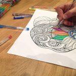 100 stylos à encre gel de couleur Chroma avec étui - Gel Pens extra large - Couleurs UNIQUES (aucune en double) – Encre de qualité supérieure glissant facilement - Parfaits pour le coloriage de la marque Chroma image 4 produit