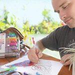 100 stylos gel Zenacolor avec étui - Boîte de Gel Pens extra large – 100 stylos bille avec gel de couleur UNIQUES (aucune en double) – Avec une encre de qualité supérieure qui coule facilement - Parfaits pour les livres de coloriage pour adultes, l'art th image 6 produit