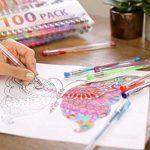 100 stylos gel Zenacolor avec étui - Boîte de Gel Pens extra large – 100 stylos bille avec gel de couleur UNIQUES (aucune en double) – Avec une encre de qualité supérieure qui coule facilement - Parfaits pour les livres de coloriage pour adultes, l'art th image 4 produit