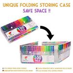 100 stylos gel Zenacolor avec étui - Boîte de Gel Pens extra large – 100 stylos bille avec gel de couleur UNIQUES (aucune en double) – Avec une encre de qualité supérieure qui coule facilement - Parfaits pour les livres de coloriage pour adultes, l'art th image 2 produit