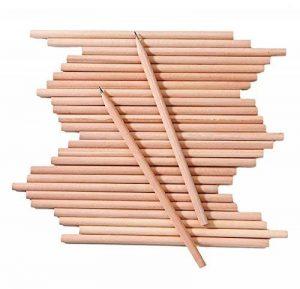 100x Milopon Crayon de Bois HB Naturel Crayon à Papier Pour Enfant Dessin Papeterie Scolaire de la marque Milopon image 0 produit