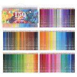 150crayons aquarelle–Ectech professionnel Crayons de couleur soluble dans l'eau pour art Dessin, croquis, livres de coloriage pour adultes de la marque ECTECH image 3 produit