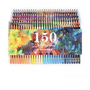 150crayons aquarelle–Ectech professionnel Crayons de couleur soluble dans l'eau pour art Dessin, croquis, livres de coloriage pour adultes de la marque ECTECH image 0 produit