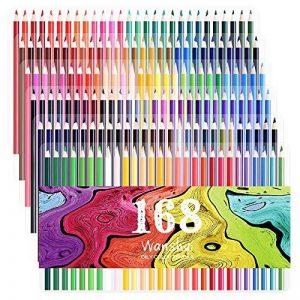 168 Crayons de couleur - 168 comptez Pré-affûtée Couleurs vives (pas de Doublons) Art Dessin Ensemble de crayons de couleur pour des livres de de la marque Wanshui image 0 produit
