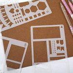 20 pochoir bullet journal plus de 1000 différents modèles de plastique Planner DIY modèle de dessin 10,2 x 17,8 cm pochoir peinture pour la carte scrapbooking et projets artistiques de la marque Smallones image 6 produit