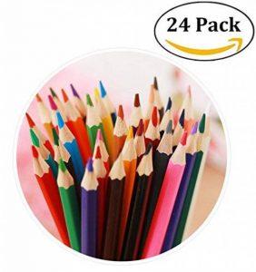 24 Crayons de couleur (aucune en double) Professionnel de Haute Qualité Art Dessin crayon pour enfants, adultes et artistes croquis, peinture de la marque Mailesi image 0 produit