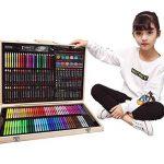 251pcs Boîte en bois artiste Set Professionnel enfants Art peinture Set Artiste ensemble Deluxe Crayons Peintures Stylos Crayons Ensembles pour l'école et le voyage de la marque HJXJXJX image 2 produit