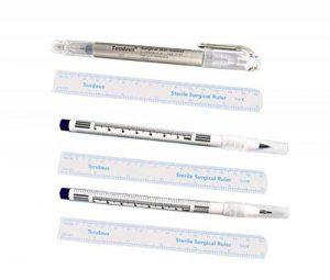 3Pcs (0.5mm + 1mm + double pointe) Blanc Skin Marker Tattoo avec papier Règle professionnel sourcils Art chirurgical Pointe Tattoo Pen Permanent Tatouage sourcils Motif Kits de positionnement de la marque Upstore image 0 produit