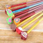 30 x crayons de bois dessin, 2 x taille-crayon kawaii, Rymall crayon a papier fantaisie de dureté de HB, crayons papier avec gomme animaux pour les enfants pour la fête d'anniversaire parti d'enfants récompenses d'école de la marque Rymall image 5 produit