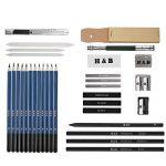33pcs Crayons de Dessin,Lypumso Crayons Croquis Kit de Croquis Dessin avec Sac Inclus Gomme Crayon de Charbon Graphite Outils pour Dessiner de la marque image 1 produit