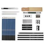 33pcs Crayons de Dessin,Lypumso Crayons Croquis Kit de Croquis Dessin avec Sac Inclus Gomme Crayon de Charbon Graphite Outils pour Dessiner de la marque Lypumso image 1 produit
