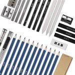 33pcs Crayons de Dessin,Lypumso Crayons Croquis Kit de Croquis Dessin avec Sac Inclus Gomme Crayon de Charbon Graphite Outils pour Dessiner de la marque Lypumso image 6 produit