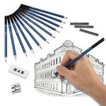 33pcs Crayons de Dessin,Lypumso Crayons Croquis Kit de Croquis Dessin avec Sac Inclus Gomme Crayon de Charbon Graphite Outils pour Dessiner de la marque Lypumso image 4 produit