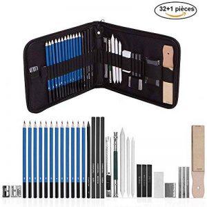33PCS Esquisse Crayons Fusain Pour Dessin et Croquis crayon avec Sac de la marque VTYII image 0 produit