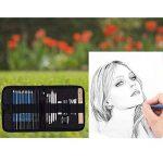 33PCS Esquisse Crayons Fusain Pour Dessin et Croquis crayon avec Sac de la marque VTYII image 2 produit