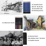 41PCS kit de dessin pro avec Crayons Fusain, crayon de couleur aquarellable, crayon graphite et accessoire dessin dans une grosse trousse, Idéal Cadeaux pour étudiant Artiste Adulte Enfant de la marque TvFly image 2 produit