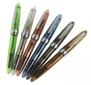 6 pcs Ensemble de stylo plume Jinhao 992, transparent, couleur de diversité (bleu, vert, gris, brun, orange, blanc) de la marque Hillento image 0 produit