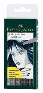 6x Faber-Castell Pitt artiste Stylos (Brosse douce) nuances de gris de la marque Faber-Castell image 0 produit