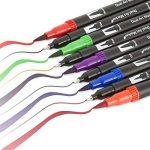 60 stylos marqueurs à double pointe, Mocent 60 unique couleurs stylos double pointe(pinceaux et embouts de finition), parfaits pour la coloration, l'art, le gribouillage, le lettrage et plus encore de la marque Mocent image 1 produit