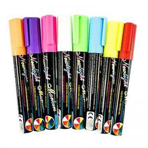 8 couleurs Feutres 6mm Penfill liquide d'un surligneur stylo plaque fluorescente pour tableau blanc, tableau noir, fenêtre de la marque yongding image 0 produit