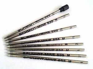 8X Schmidt 635m Mini Ball Pen Refill–Bleu–(Lamy M21et Cross 8518–4compatible) de la marque Schmidt 635 M image 0 produit