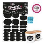 84 Noir Kitchen Labels · Cuisine Tableau Autocollants de la marque the Label Factory by favlov image 1 produit