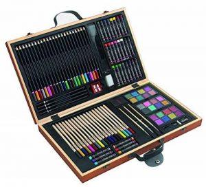 88pièces Coffret Eau de couleurs Boîte crayons de couleur Crayons de Cire Coffret Pinceau bois de la marque insp image 0 produit
