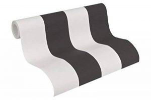 A.S. Création Papier peint intissé Elegance 3 noir blanc 10,05 m x 0,53 m 334213 de la marque A.S. Création image 0 produit