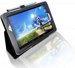 """Acer Iconia A1/A1–840FHD (20,3cm) multi-angles """"Stylo Étui avec fonction support et stylet/stylo bille 2en 1par LuvTab® Galaxy Tab 3 (7"""") - noir de la marque LuvTab® image 0 produit"""