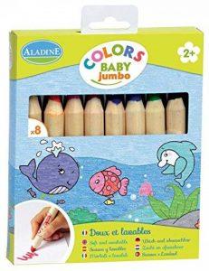 Aladine 42009 - 8 Crayons De Couleur - Jumbo de la marque Aladine image 0 produit