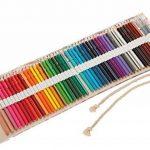 Amoyie Trousses pour 36 48 72 crayons de couleur, trousse à crayon enroulable avec perle, enveloppe de crayon, sac de toile de la marque Amoyie image 2 produit