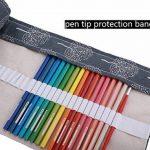 Amoyie Trousses pour 36 48 72 crayons de couleur, trousse à crayon enroulable avec perle, enveloppe de crayon, sac de toile de la marque Amoyie image 3 produit