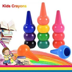Anteel Peinture au Crayon, Doigt Crayons pour des Gamins, 12 Couleurs 3D Peindre Crayons pour les Enfants, les Garçons et les Filles, Sécurité de la marque Anteel image 0 produit