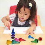 Anteel Peinture au Crayon, Doigt Crayons pour des Gamins, 12 Couleurs 3D Peindre Crayons pour les Enfants, les Garçons et les Filles, Sécurité de la marque Anteel image 2 produit