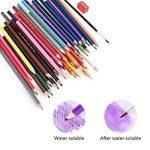 AOLVO professionnel Crayons aquarelle Lot de 48pcs haute qualité Multi Crayons de couleur pour les adultes, artistes, Sketchers, d'art pages–Estompeur et taille-crayon Dos de la marque AOLVO image 6 produit