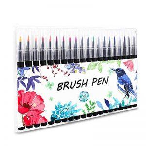 Aquarelle Brosse Stylos Set 20 Couleurs Marker Stylo Kit avec Pointe Souple pour Adulte Coloriage Livre Peinture et Calligraphie. de la marque Firbon image 0 produit