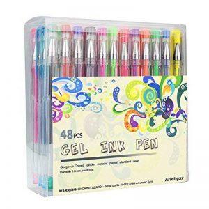 Ariel-gxr stylos gel - Lot de 48 Billes à Encre Gel Multicolore (avec Couleur Métallique Glitter Néon WaterChalk) pour Ecrire et Dessiner de la marque ariel-gxr image 0 produit