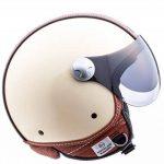 """Armor · AV-84 """"Vintage Deluxe Creme"""" (yellow) · Casque Moto Jet · Helmet Demi Jet Cruiser Scooter Chopper Retro · ECE certifié · Visor · Click-n-Secure™ Clip · Sac fourre-tout · S (55-56cm) de la marque Arrow image 3 produit"""