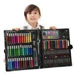 Art Set, 150 PCS Deluxe Crayons Peintures Stylos Crayons Sets Professionnel Kids Art Set de peinture Artiste Set pour l'école et le voyage de la marque HJXJXJX image 1 produit