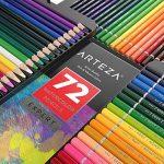 Arteza Crayons De Couleur Aquarelle En Bois Boîte Rangement Métal Set De 72, Crayons Aquarelle Pour Dessin D'art Dans Des Tons Assortis Lumineux, Idéal Pour Les Artistes Débutants Et Professionnels de la marque ARTEZA® image 4 produit