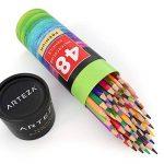 Arteza Crayons De Couleur Aquarelle En Bois - Parfait Pour Coloriage Adulte - Mine Souple - Forme Triangulaire - Pré-Aiguisé (en Tube de 48) de la marque ARTEZA® image 1 produit