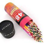 Arteza Crayons de Couleur Bois - Parfait Pour Coloriage Adulte - Mine Souple - Forme Triangulaire - Pré-Aiguisé (en Tube de 48) de la marque ARTEZA® image 1 produit