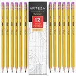 ARTEZA Crayons en Bois-HB N°2- Pré-Aiguisés - Gommes Sans Latex - (Boîte de 180) de la marque ARTEZA® image 4 produit
